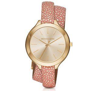 NWT MICHAEL KORS Slim Runway Pink Watch MK2476
